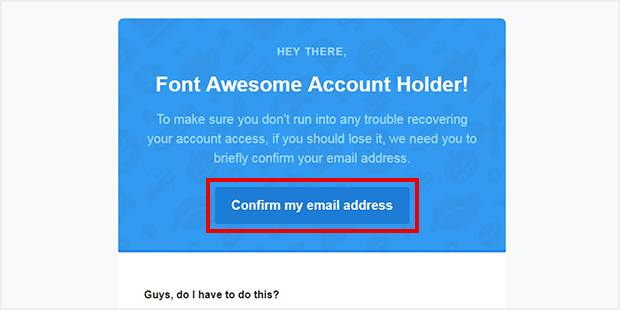 [Confirm my email address]